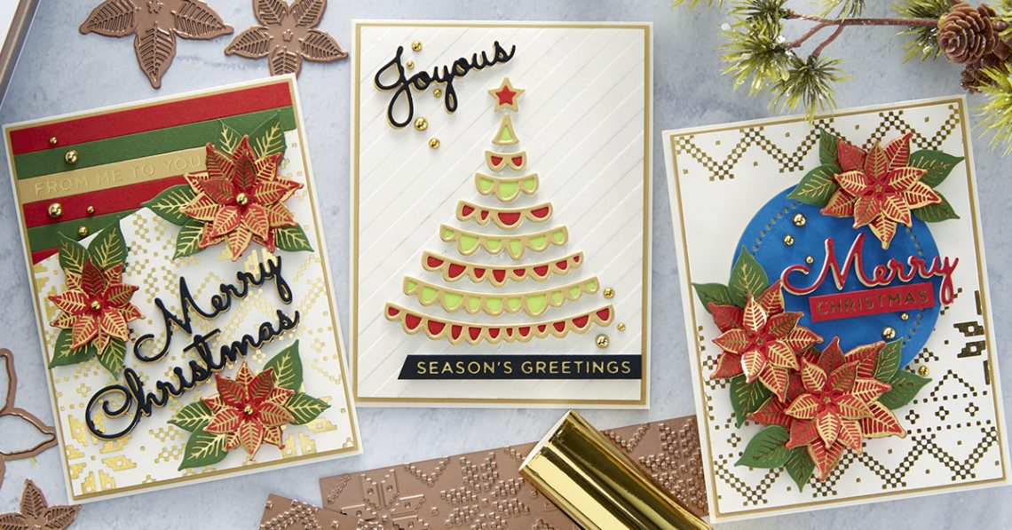 Spellbinders Glimmering Christmas Project Kit is Here! #Spellbinders #NeverStopMaking #DieCutting #Cardmaking #ChristmasCardmaking #GlimmerHotFoilSystem