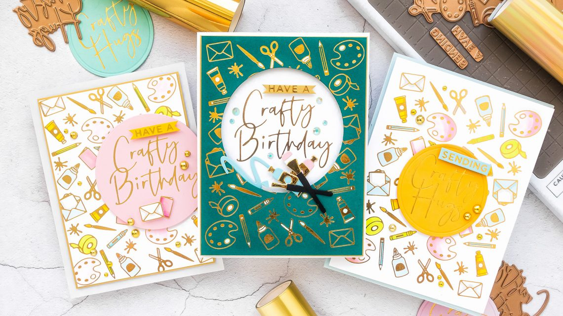 Spellbinders August 2020 Glimmer Hot Foil Kit of the Month is Here – Have a Crafty Day #SpellbindersClubKits #Spellbinders #NeverStopMaking #Cardmaking #GlimmerHotFoilSystem