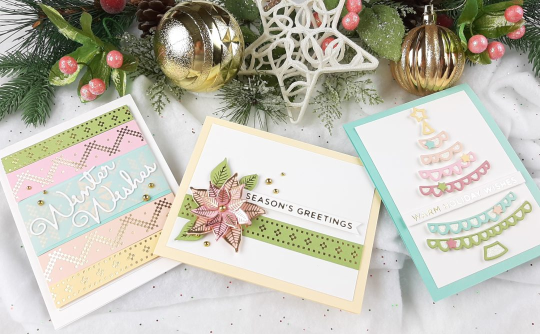 The Glimmering Christmas Project Kit by Spellbinders | Cardmaking Inspiration with Tina Smith | Video tutorial #Spellbinders #NeverStopMaking #DieCutting #Cardmaking #ChristmasCardmaking #GlimmerHotFoilSystem