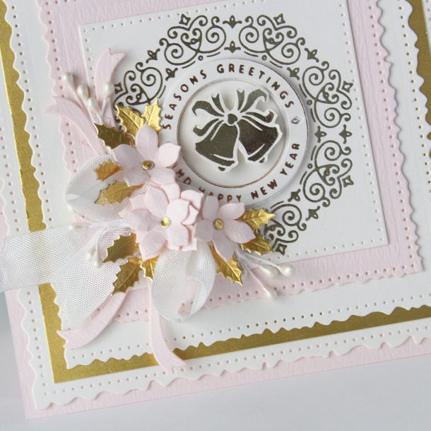 Spellbinders Christmas Cascade Collection by Becca Feeken – Kinetic Card with Hussena #Spellbinders #AmazingPaperGrace #DieCutting #NeverStopMaking #Christmas #Christmascardmaking