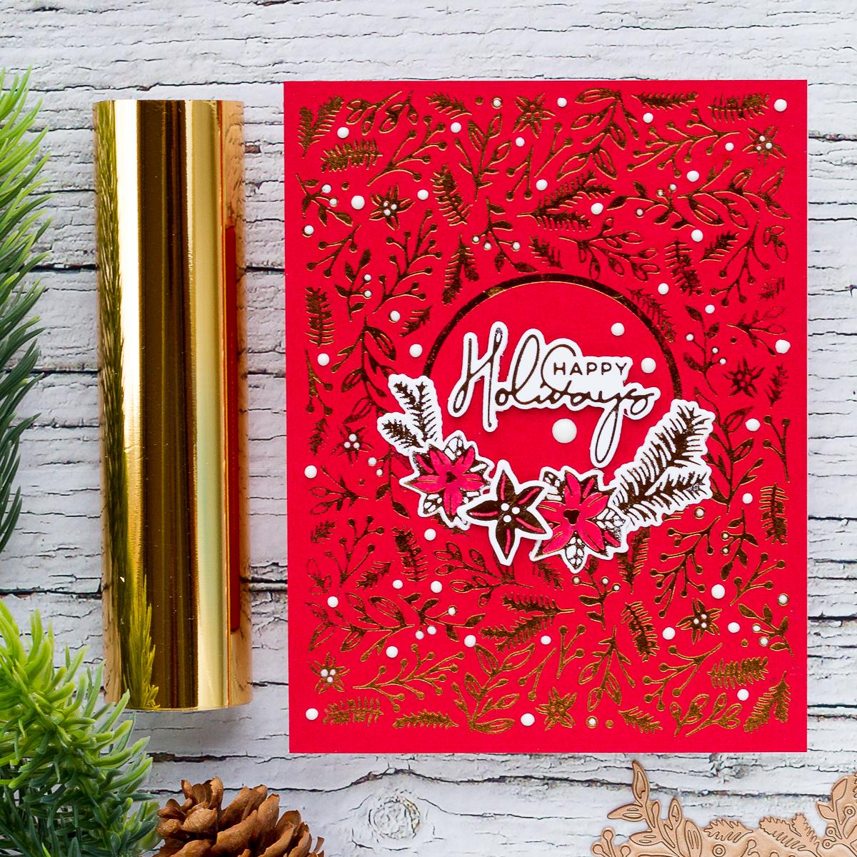 Elegant Foiled Handmade Christmas Cards With Ilda Spellbinder Blog