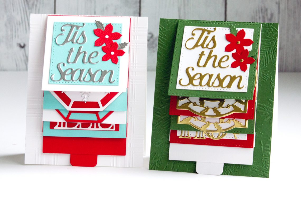 Spellbinders Christmas Cascade Collection by Becca Feeken - Project Inspiration with Jean Manis #Spellbinders #NeverStopMaking #DieCutting #Cardmaking