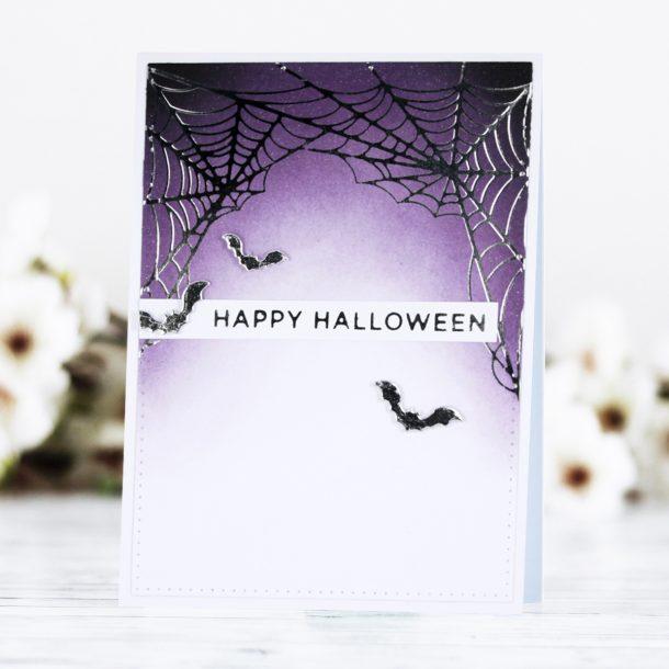 Foiled Fall and Halloween Cards with Kaja Vezenšek for Spellbinders #Spellbinders #NeverStopMaking #GlimmerHotFoilSystem #Cardmaking