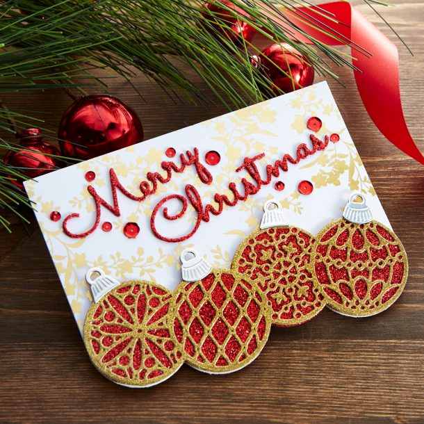 S4-1065 Christmas Mix & Match Sentiments: How many different sentiment combinations can you create? This set of 7 script sentiments can be arranged in so many ways for a Christmas card or project. What's New | Spellbinders Sparkling Christmas Collection #Spellbinders #NeverStopMaking #DieCutting #Cardmaking #GlimmerHotFoilSystem #Christmas