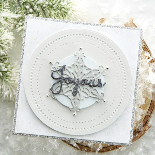 S2-310 Radiant Snowflake: This larger than life snowflake die can be used in so many ways! Add as a focal point on a card…or how about as an ornament? What's New | Spellbinders Sparkling Christmas Collection #Spellbinders #NeverStopMaking #DieCutting #Cardmaking #Christmas