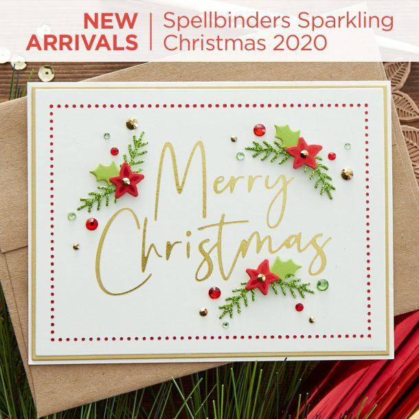 Spellbinders Sparkling Christmas Collection #Spellbinders #NeverStopMaking #DieCutting #Cardmaking #ChristmasCardmaking