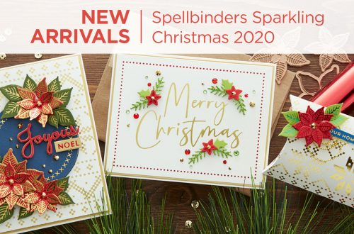 The 2020 Spellbinders collection of 10 etched die sets, 13 Glimmer plate sets and a clear stamp set will knock your Christmas Stockings off this year! There's something for everyone and they've been meticulously designed to work together in oh so many ways. What's New | Spellbinders Sparkling Christmas Collection #Spellbinders #NeverStopMaking #DieCutting #Cardmaking #GlimmerHotFoilSystem #Christmas
