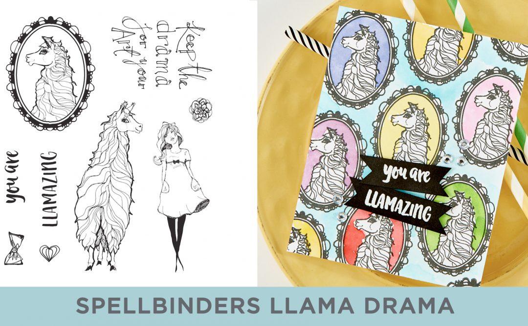 Spellbinders Cardmaking Inspiration | You are Llamazing Card Featuring Jane Davenport Clear Stamp Llama Drama (JDS-055) with Kim Kesti #Spellbinders #Cardmaking #NeverStopMaking #Stamping