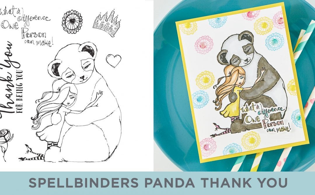 Cardmaking Inspiration | What a Difference Card Featuring Panda Thank You with Kim Kesti