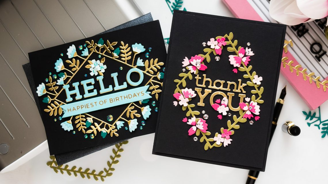Spellbinders September 2020 Small Die of the Month is Here – Hello & Thank You #Spellbinders #NeverStopMaking #Cardmaking