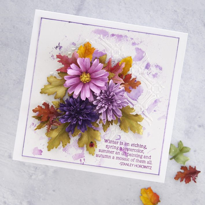 What's New at Spellbinders | Autumn Flora Collection by Susan Tierney-Cockburn. S4-1074 Button & Daisy Chrysanthemum #Spellbinders #NeverStopMaking #PaperFlowers #DieCutting #Cardmaking