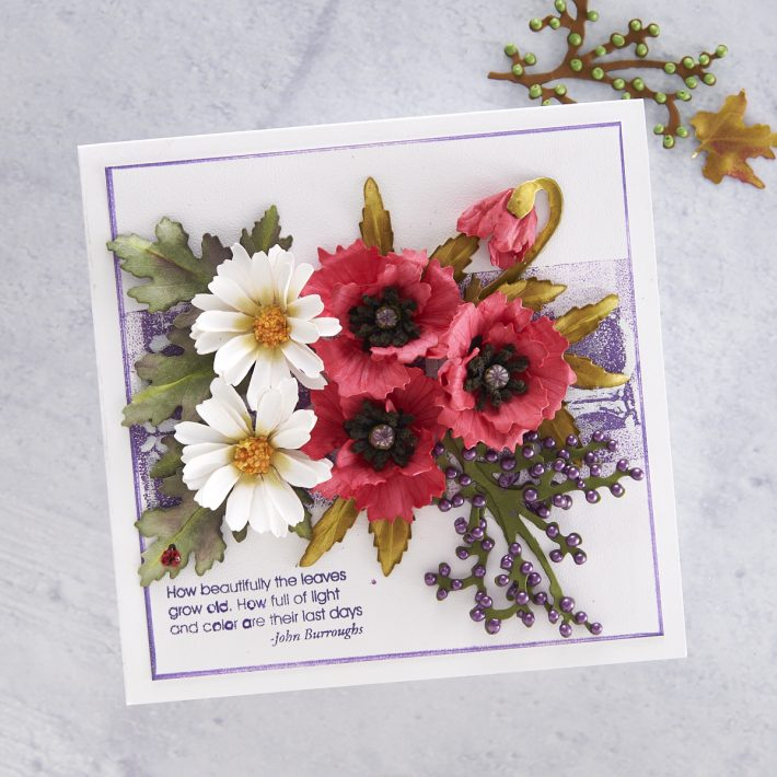What's New at Spellbinders | Autumn Flora Collection by Susan Tierney-Cockburn. S4-1078 Oriental Poppy #Spellbinders #NeverStopMaking #PaperFlowers #DieCutting #Cardmaking