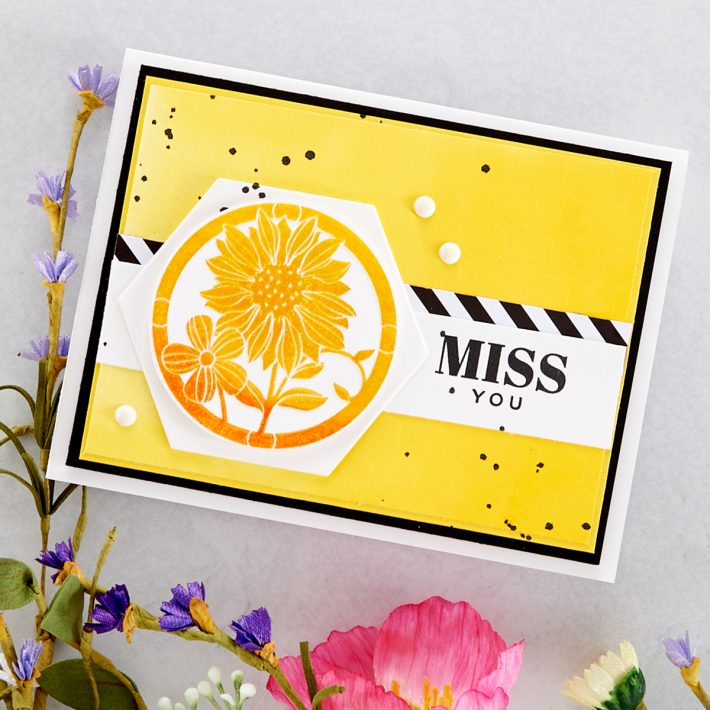 FSJ Buzzworthy Project Kit is Here! Miss You Card #NeverStopMaking #DieCutting #Cardmaking