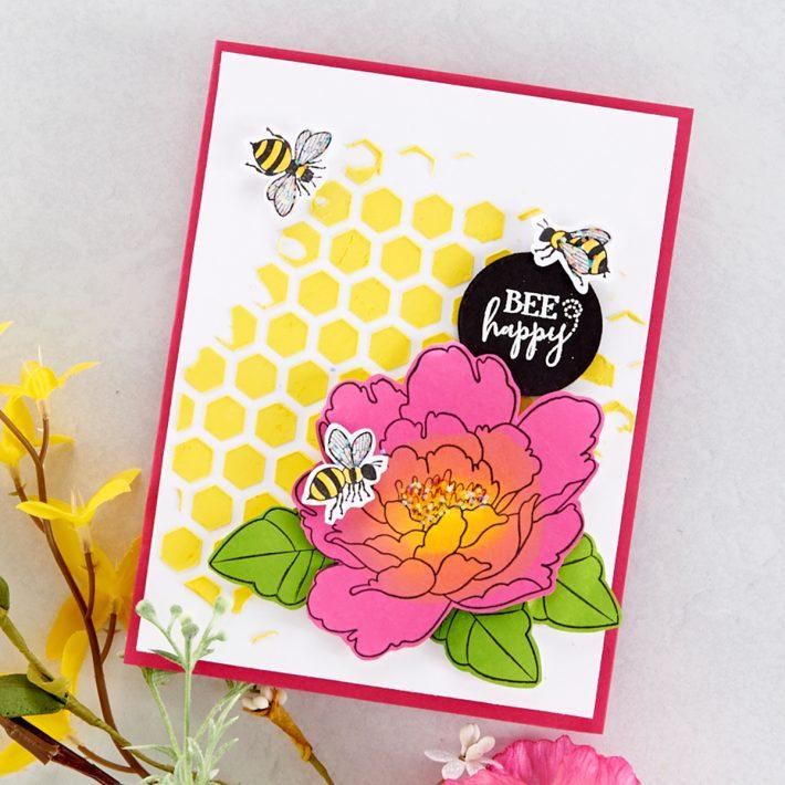 FSJ Buzzworthy Project Kit is Here! Bee Happy Card #NeverStopMaking #DieCutting #Cardmaking