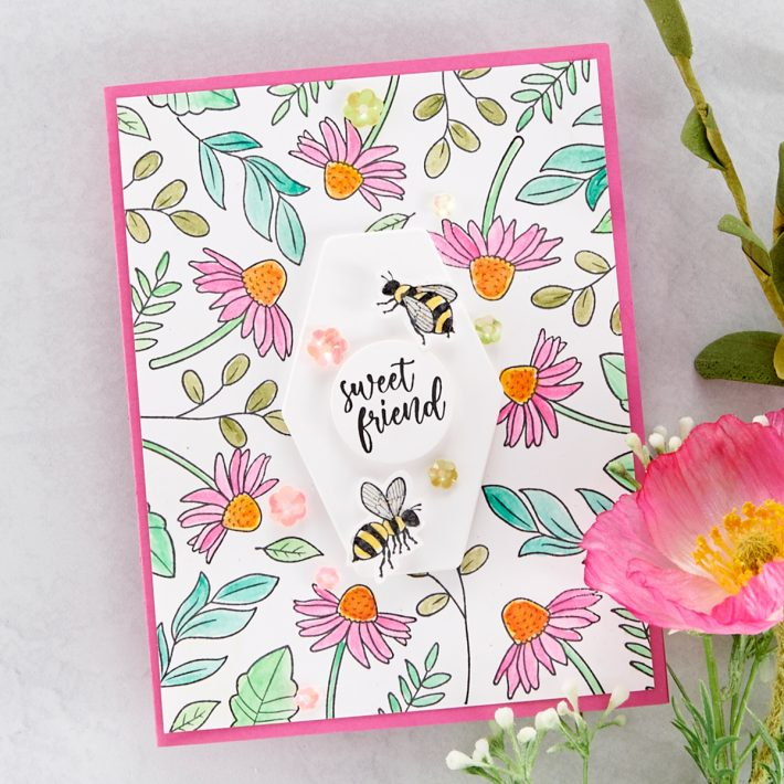FSJ Buzzworthy Project Kit is Here! Sweet Friend Card #NeverStopMaking #DieCutting #Cardmaking