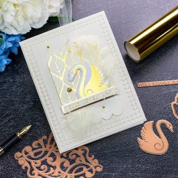 Becca Feeken Sweet Cardlets Glimmer Project Kit | Cardmaking Inspiration with Bibi Cameron | Video Tutorial | Create Multipurpose Toppers #NeverStopMaking #DieCutting #Cardmaking #GlimmerHotFoilSystem