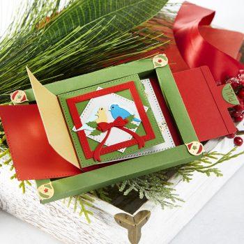 Spellbinders Christmas Cascade Collection by Becca Feeken #Spellbinders #NeverStopMaking #AmazingPaperGrace #Cardmaking