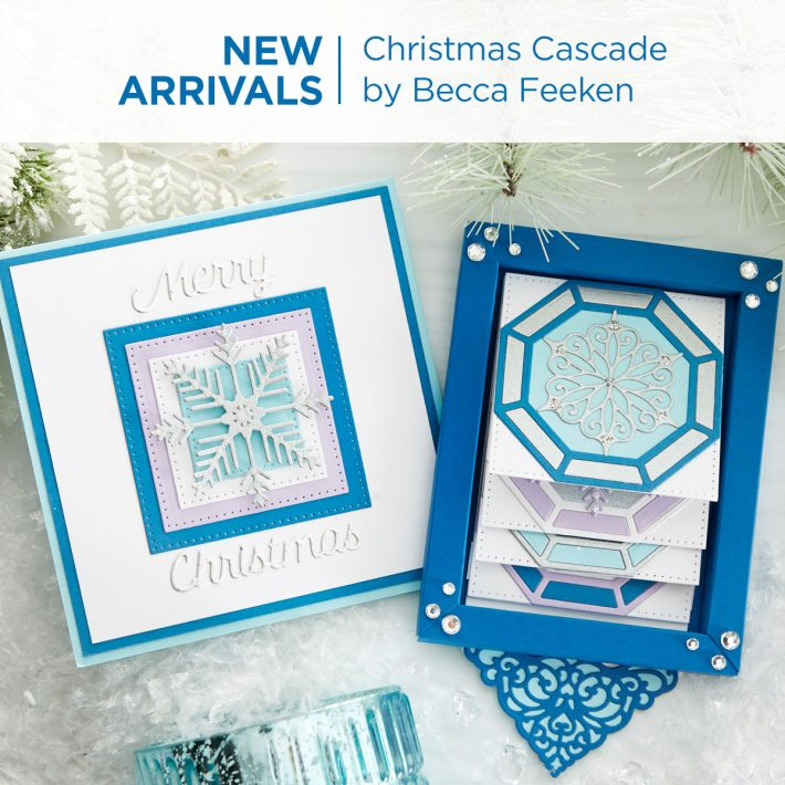 What's New | Spellbinders Christmas Cascade Collection by Becca Feeken #Spellbinders #NeverStopMaking #DieCutting #Cardmaking #GlimmerHotFoilSystem #AmazingPaperGrace