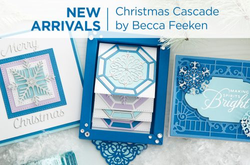 Spellbinders Christmas Cascade Collection by Becca Feeken #Spellbinders #NeverStopMaking #AmazingPaperGrace #Cardmaking