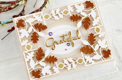Spellbinders October 2020 Small Die of the Month is Here – Fall Leaves Card Creator #Spellbinders #SpellbindersClubKits #NeverStopMaking