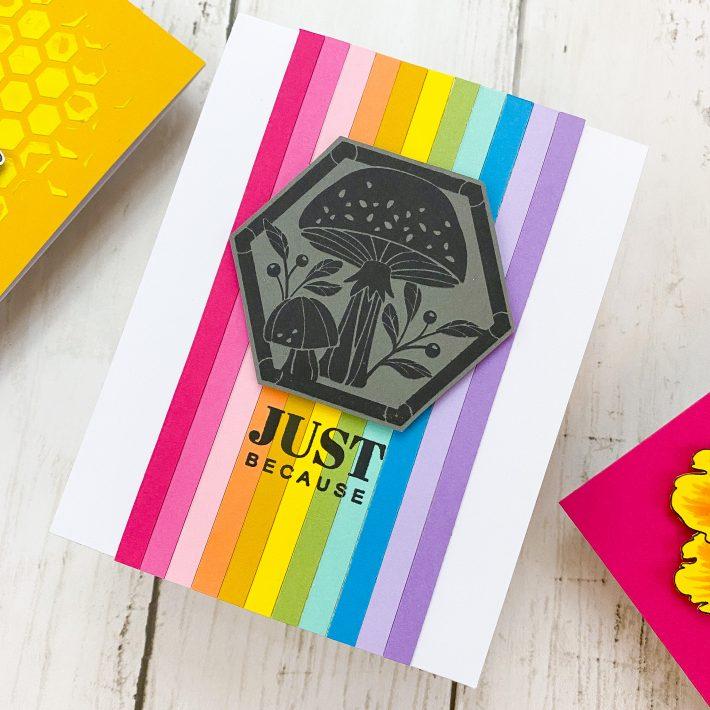 Spellbinders & FSJ Buzzworthy Project Kit | Cardmaking Inspiration With Channin Pelletier | Video tutorial #NeverStopMaking #DieCutting #Cardmaking