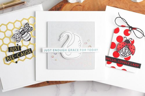 Becca Feeken Sweet Cardlets Glimmer Project Kit | Cardmaking Inspiration with Michelle Short | Video Tutorial #NeverStopMaking #DieCutting #Cardmaking #GlimmerHotFoilSystem
