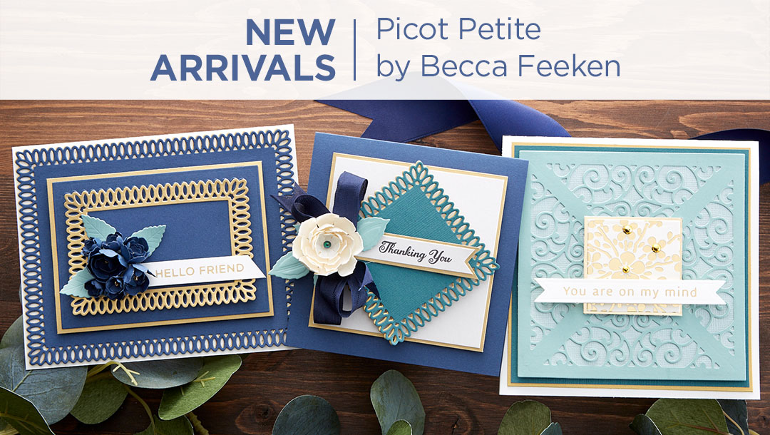 What's New at Spellbinders | Picot Petite Collection by Becca Feeken #Spellbinders #NeverStopMaking #AmazingPaperGrace #DieCutting #Cardmaking