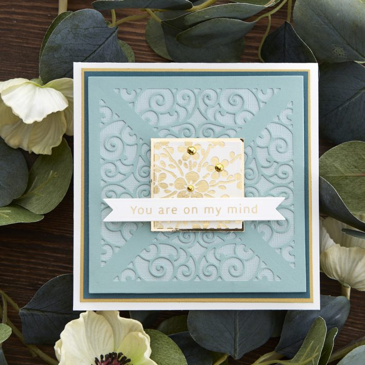 What's New at Spellbinders | Picot Petite Collection by Becca Feeken. S5-404 Filigree Quartet #Spellbinders #NeverStopMaking #AmazingPaperGrace #DieCutting #Cardmaking