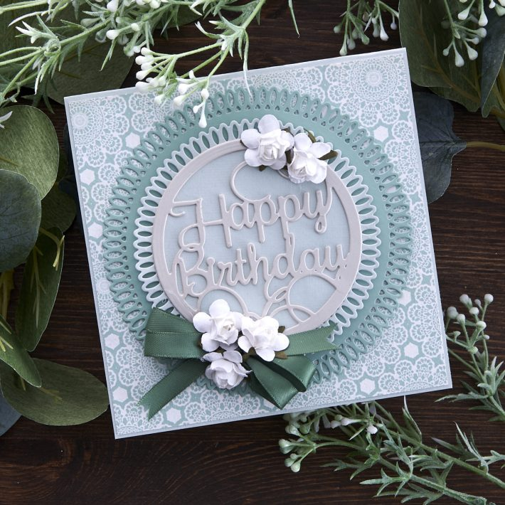What's New at Spellbinders | Picot Petite Collection by Becca Feeken. S5-431 Picot Petite Circles #Spellbinders #NeverStopMaking #AmazingPaperGrace #DieCutting #Cardmaking