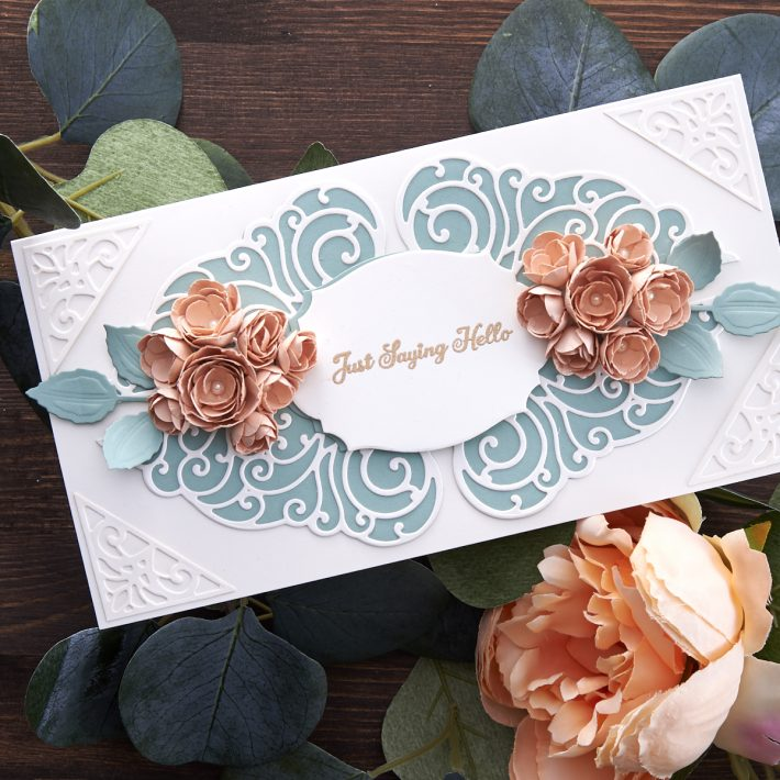 What's New at Spellbinders | Picot Petite Collection by Becca Feeken. S4-1072 Bed of Lace #Spellbinders #NeverStopMaking #AmazingPaperGrace #DieCutting #Cardmaking