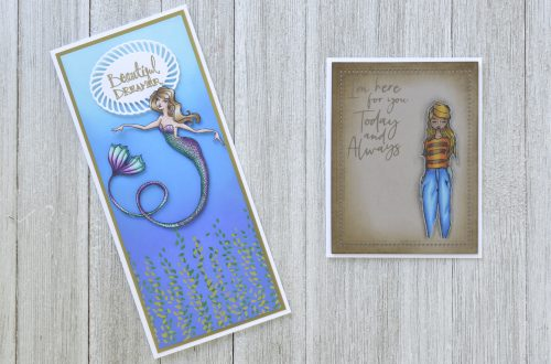 Stamp Camp Collection by Jane Davenport for Spellbinders – Clean & Simple Character Cards with Annie Williams #Spellbinders #NeverStopMaking #Stamping #Cardmaking