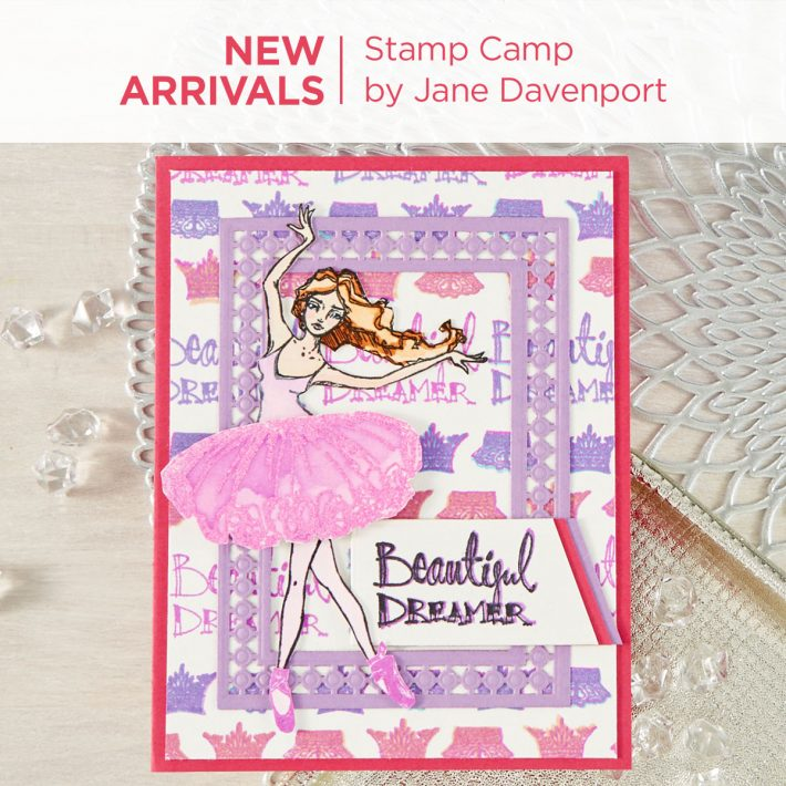 What's New at Spellbinders | Stamp Camp Collection by Jane Davenport #Spellbinders #NeverStopMaking #Stamping #Cardmaking