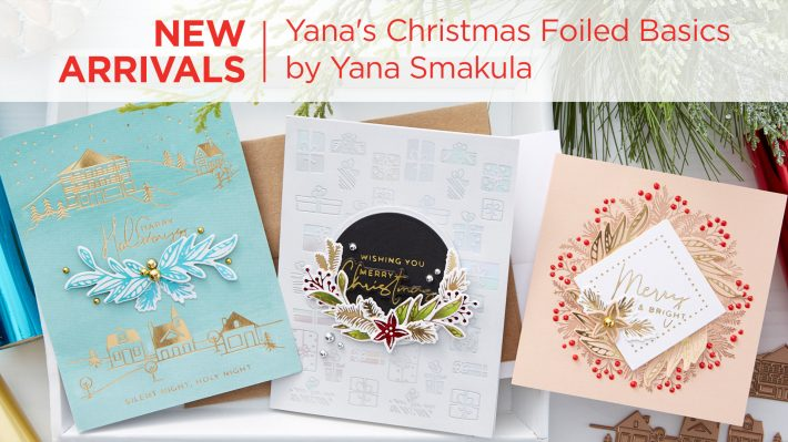 Spellbinders Yana's Christmas Foiled Basics by Yana Smakula #Spellbinders #NeverStopMaking #GlimmerHotFoilSystem #Cardmaking