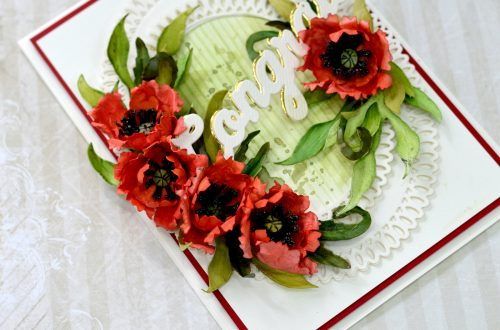 Susan's Autumn Flora Collection by by Susan Tierney-Cockburn. S4-1078 Oriental Poppy Card #Spellbinders #NeverStopMaking #PaperFlowers #DieCutting