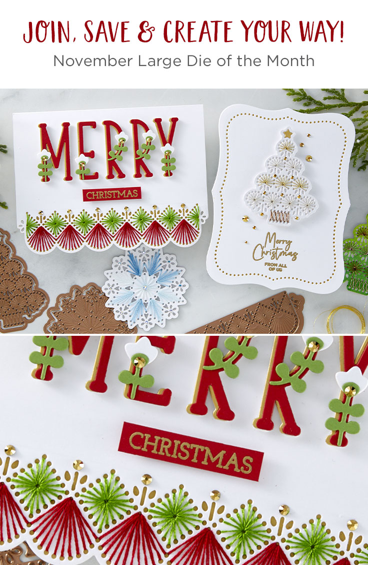 November 2020 Large Die of the Month is Here – Merry Stitching