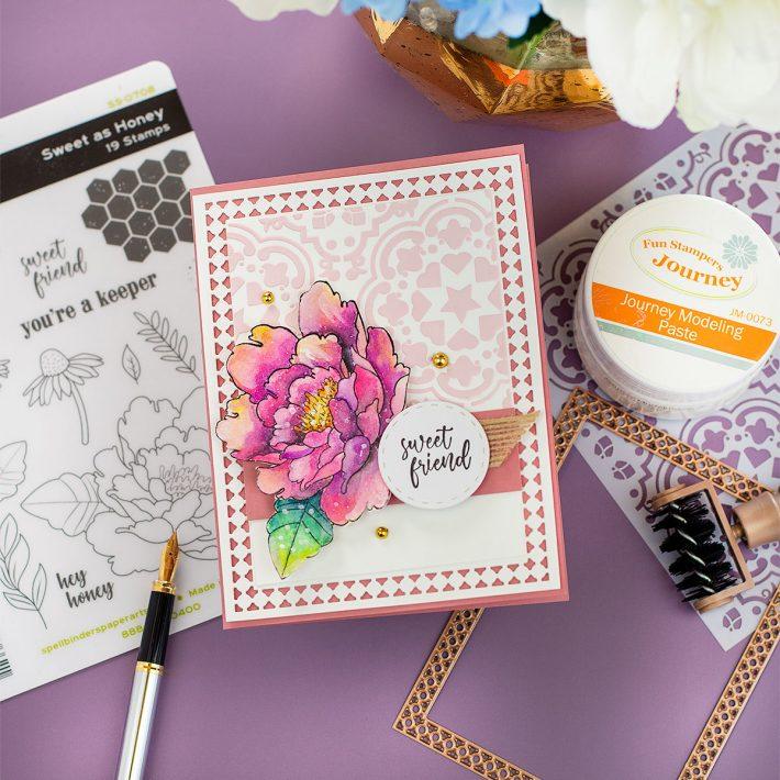Spellbinders & FSJ Buzzworthy Project Kit | Cardmaking Inspiration With Bibi Cameron | Video tutorial #NeverStopMaking #DieCutting #Cardmaking