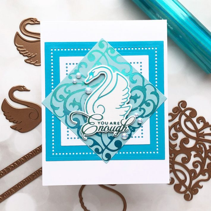 Becca Feeken Sweet Cardlets Collection - Foiled Cards with Brenda