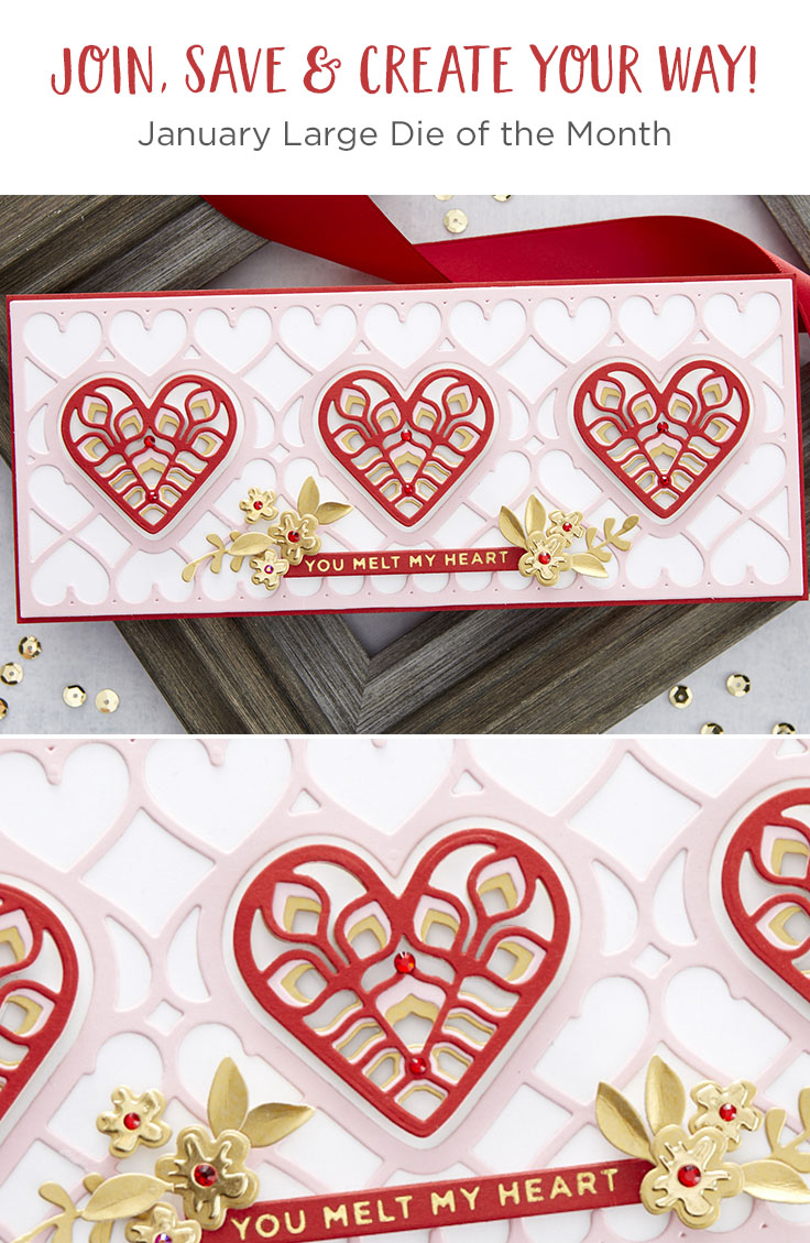 January 2021 Large Die of the Month is Here – Slimline Kaleidoscope Hearts