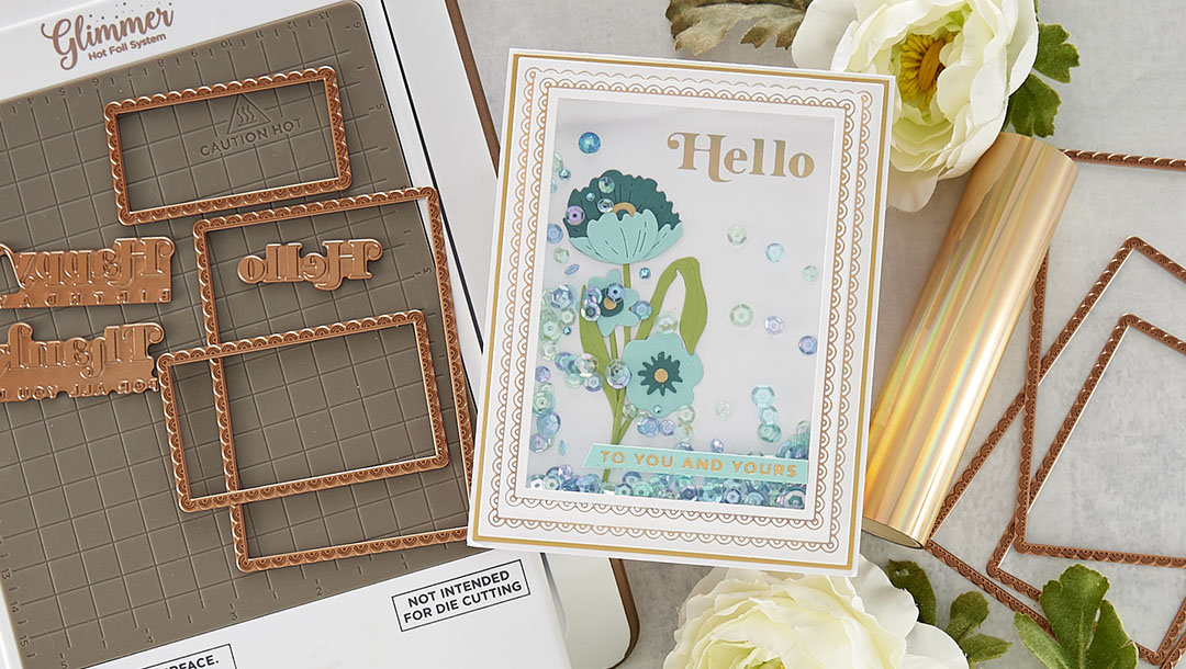 February 2021 Glimmer Hot Foil Kit of the Month is Here – Scalloped Rectangle Glimmer Essentials with Sentiments