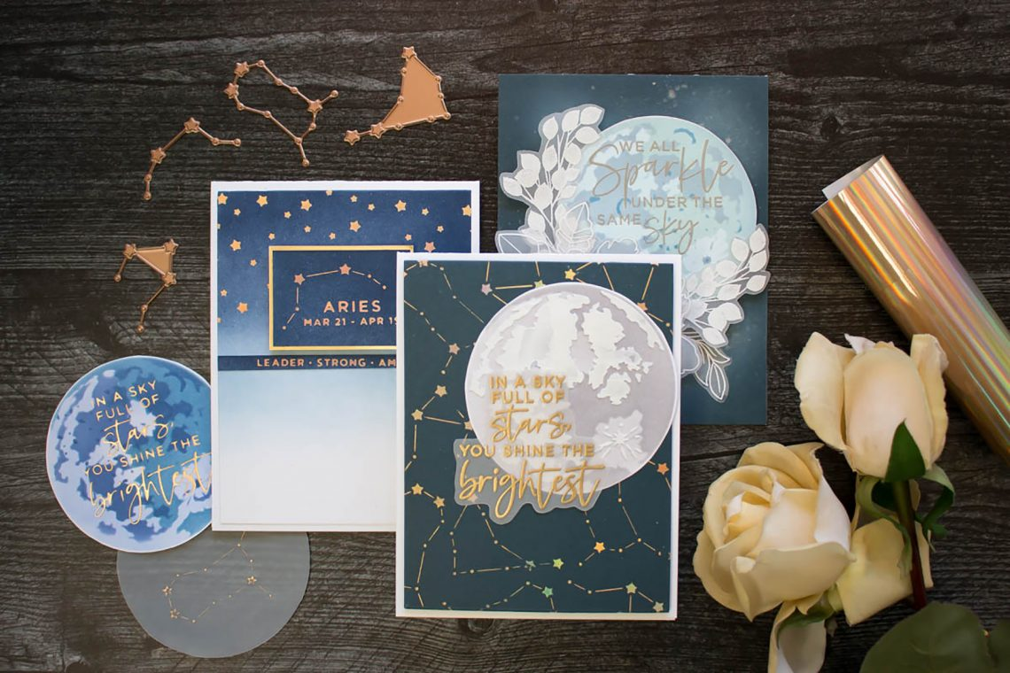 Celestial Zodiacs Collection - Inspiration with Marie Heiderscheit -  Spellbinder Blog